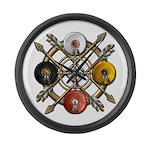 Native Medicine Wheel Mandala Large Wall Clock