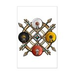 Native Medicine Wheel Mandala Mini Poster Print
