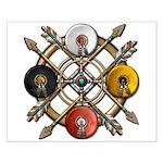 Native Medicine Wheel Mandala Small Poster
