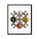 Native Medicine Wheel Mandala Framed Panel Print
