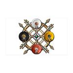 Native Medicine Wheel Mandala 38.5 x 24.5 Wall Pee