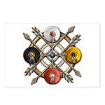 Native Medicine Wheel Mandala Postcards (Package o