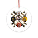 Native Medicine Wheel Mandala Ornament (Round)