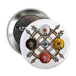 "Native Medicine Wheel Mandala 2.25"" Button"