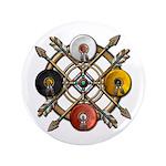 "Native Medicine Wheel Mandala 3.5"" Button"