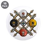 "Native Medicine Wheel Mandala 3.5"" Button (10"