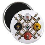 "Native Medicine Wheel Mandala 2.25"" Magnet (1"