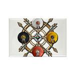 Native Medicine Wheel Mandala Rectangle Magnet (10