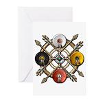 Native Medicine Wheel Mandala Greeting Cards (Pk o