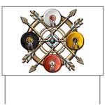 Native Medicine Wheel Mandala Yard Sign