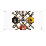 Native Medicine Wheel Mandala Banner