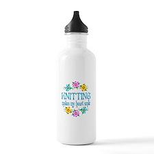 Knitting Smiles Water Bottle