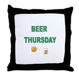 Beer Thursday Throw Pillow