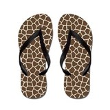 Giraffe Pattern Flip Flops