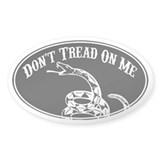Don't Tread On Me (Black) Oval Decal