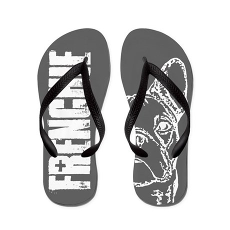 FRENCHIE (grey) Flip Flops