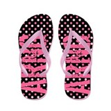 ARNG Pink Polka Dots Flip Flops