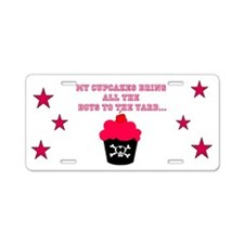 Killer Cupcakes Aluminum License Plate