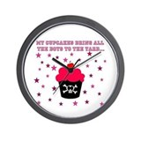 Killer Cupcake Wall CLock
