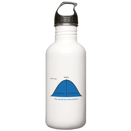 Normal bell curve Stainless Water Bottle 1.0L