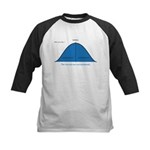 Normal bell curve Kids Baseball Jersey