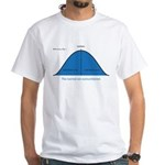 Normal bell curve White T-Shirt
