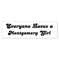 Loves Montgomery Girl Bumper Bumper Sticker