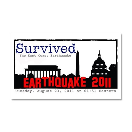 Survived Quake Car Magnet 20 x 12