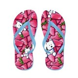 Shortcake Westie Flip Flops