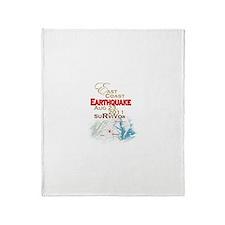 Survivor, EastCoast Earthquake - Throw Blanket