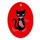 Yummy - Red Ornament (Oval)