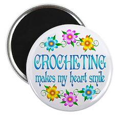 "Crocheting Smiles 2.25"" Magnet (100 pack)"