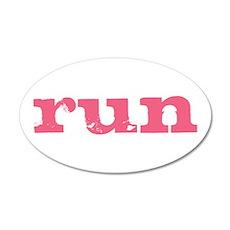 run - pink 22x14 Oval Wall Peel