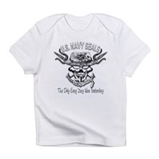 USN Navy Seal Skull Black and White Infant T-Shirt
