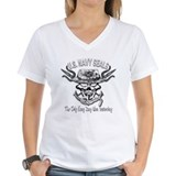 USN Navy Seal Skull Black and White Shirt