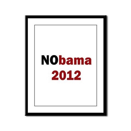 NObama 2012 Framed Panel Print