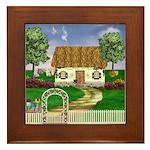 Country Cottage Framed Tile