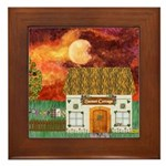 Sunset Cottage Version 2 Framed Tile