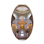 Sheikh Zayed Grand Mosque Men 38.5 x 24.5 Oval Wal