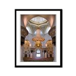 Sheikh Zayed Grand Mosque Men Framed Panel Print