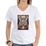 Sheikh Zayed Grand Mosque Men Women's V-Neck T-Shi