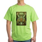Sheikh Zayed Grand Mosque Men Green T-Shirt