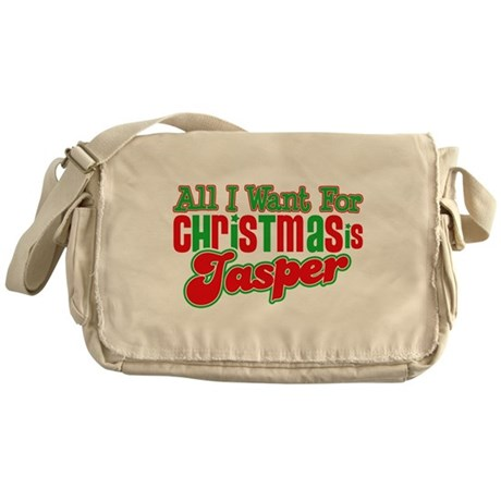 Christmas Jasper Messenger Bag