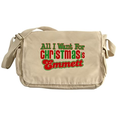 Christmas Emmett Messenger Bag