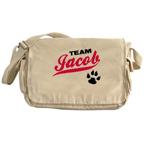 Team Jacob Twilight Messenger Bag