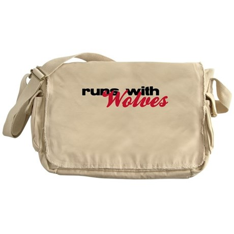 Runs With Wolves Messenger Bag