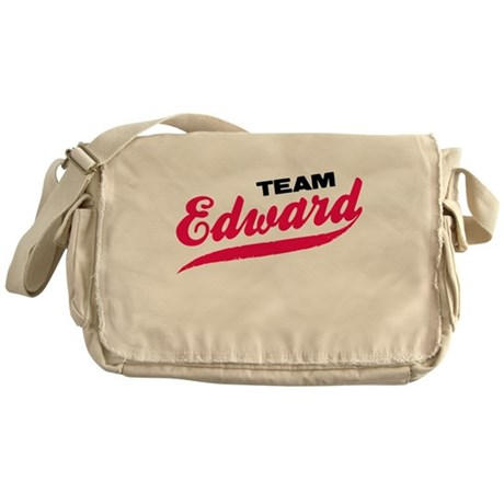 Team Edward Twilight Messenger Bag