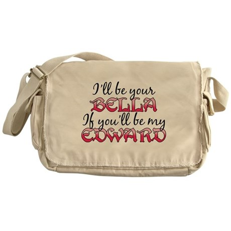 Be My Edward Twilight Messenger Bag
