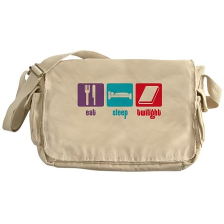 Eat Sleep Twilight Messenger Bag