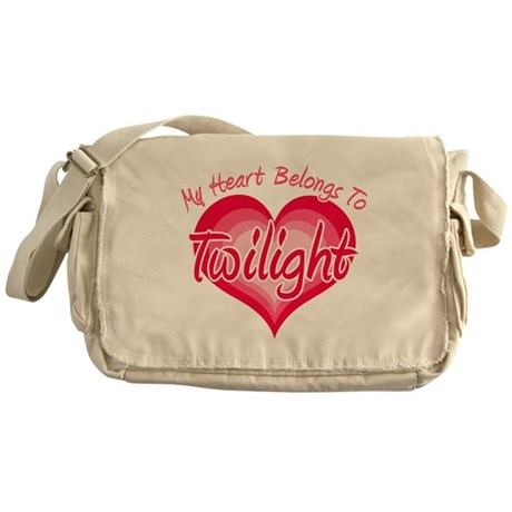 Heart Belongs Twilight Messenger Bag